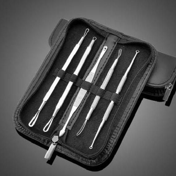 [5-Piece] Blemish & Blackhead Tool Remover Kit