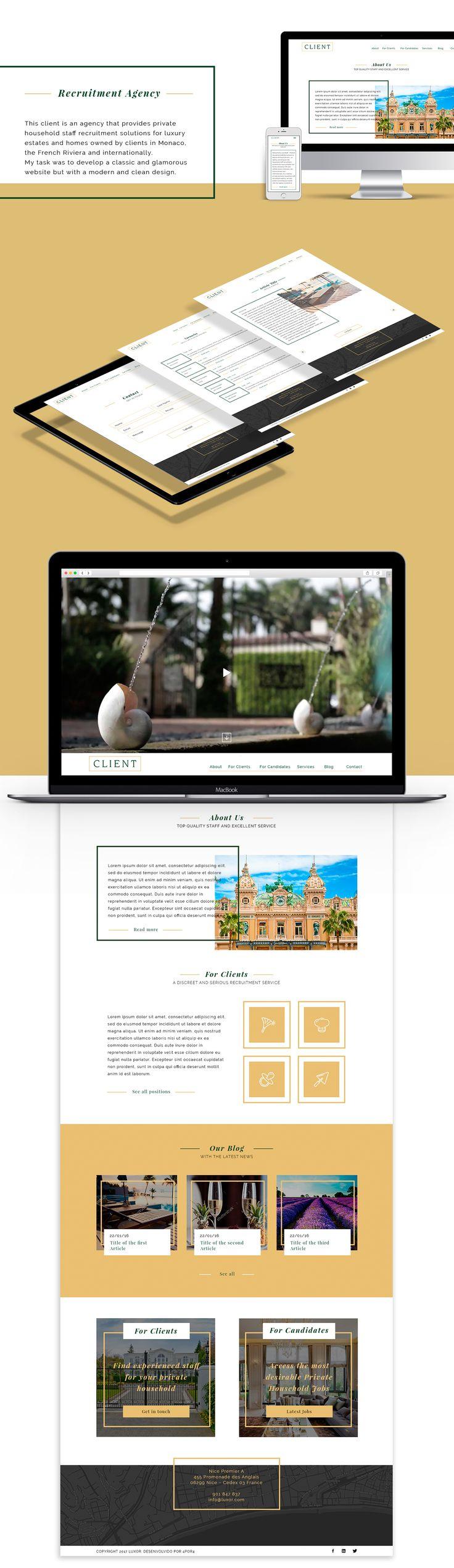 Recruitment Agency Website on Behance