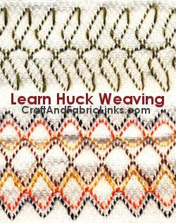 Learn huck weaving at CraftAndFabricLinks.com.