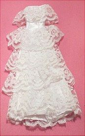 "Wedding dress that fits an 11 1/2"" fashion doll i.e. Barbie."