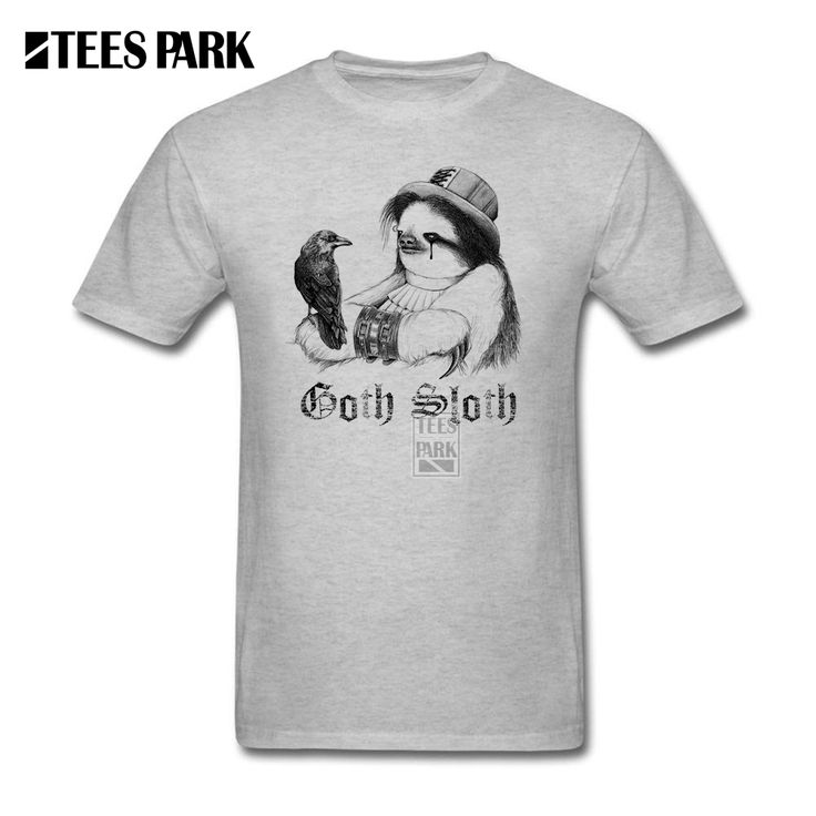 Mens Formal Shirts Goth Sloth Male O-Neck Short Sleeve T Shirt Fashion 2017 Male T Shirts For Sale #Affiliate