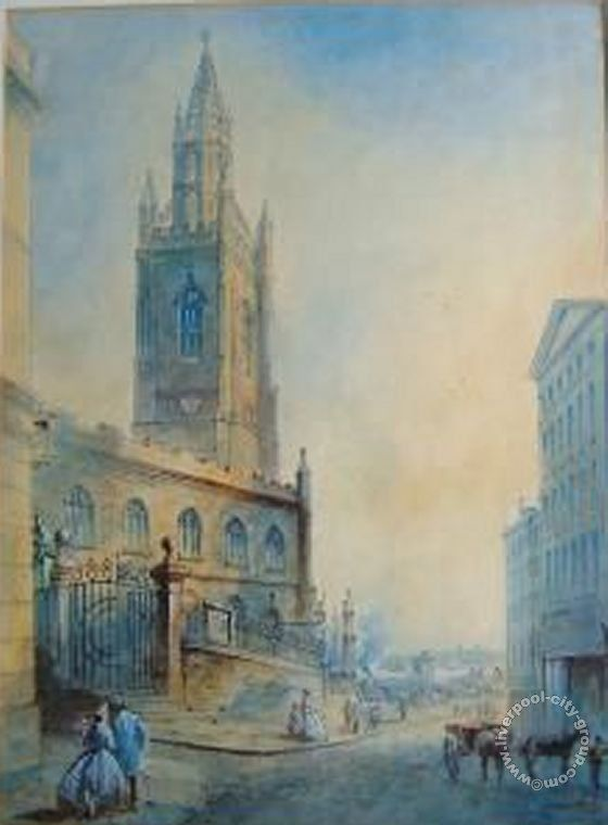 St Nicholas's Church, Liverpool, 1800s ~ where my Great Grandparents were married.  Old Photos of Liverpool, Maps and Liverpool History eBooks