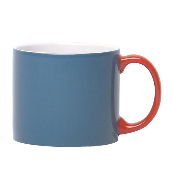 JansenCo My Mug Blue With Red Handle - London Graphic Centre - My Mugs