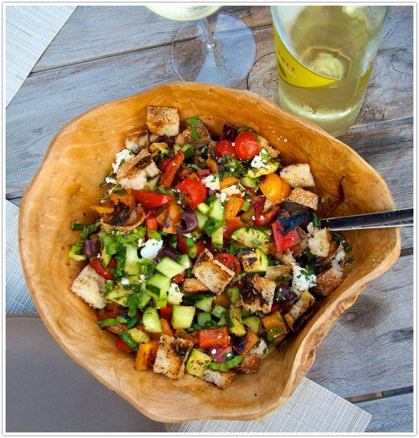 grilled panzanella salad: Food Recipes, Panzanella Salad, Grilled Panzanella, Salad Recipes, Summer Dinners, Summer Meals, Foodrecipes, Summer Salad, Veggies Salad