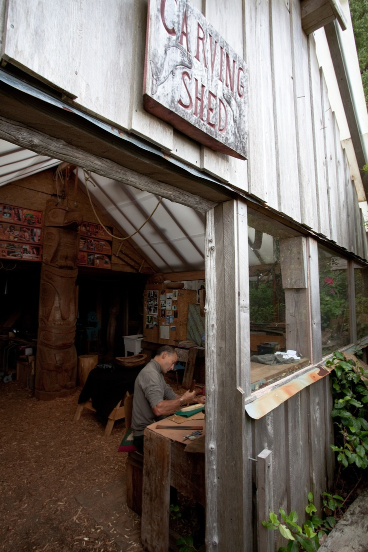 A unique feature at the Wickaninnish Inn.  Henry Nolla's carving shed.  Stop by and witness art taking shape.