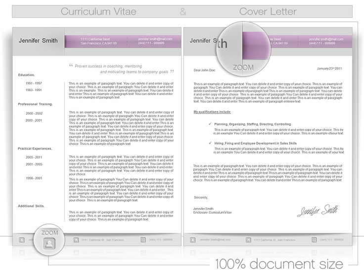 cv cvtemplate coverletter cv word template