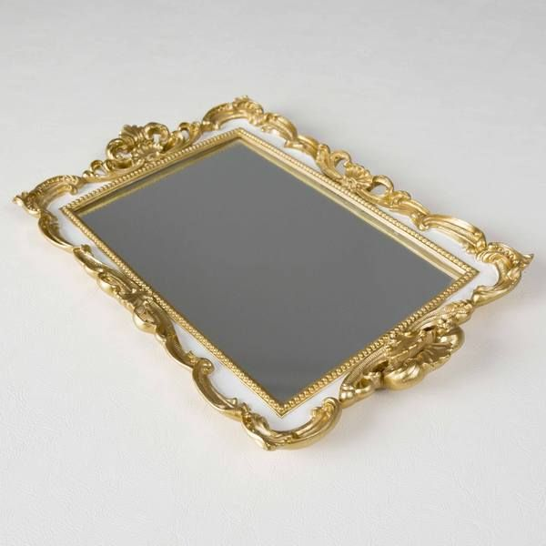 Shabby Chic Decor. Vintage White Tray Art with Chalkboard.W//Handles