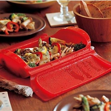 USD $ 8.99 - PP Plastic Fashion Security Steaming Lunch Box,25.5x13x6cm Color Random, Free Shipping On All Gadgets!