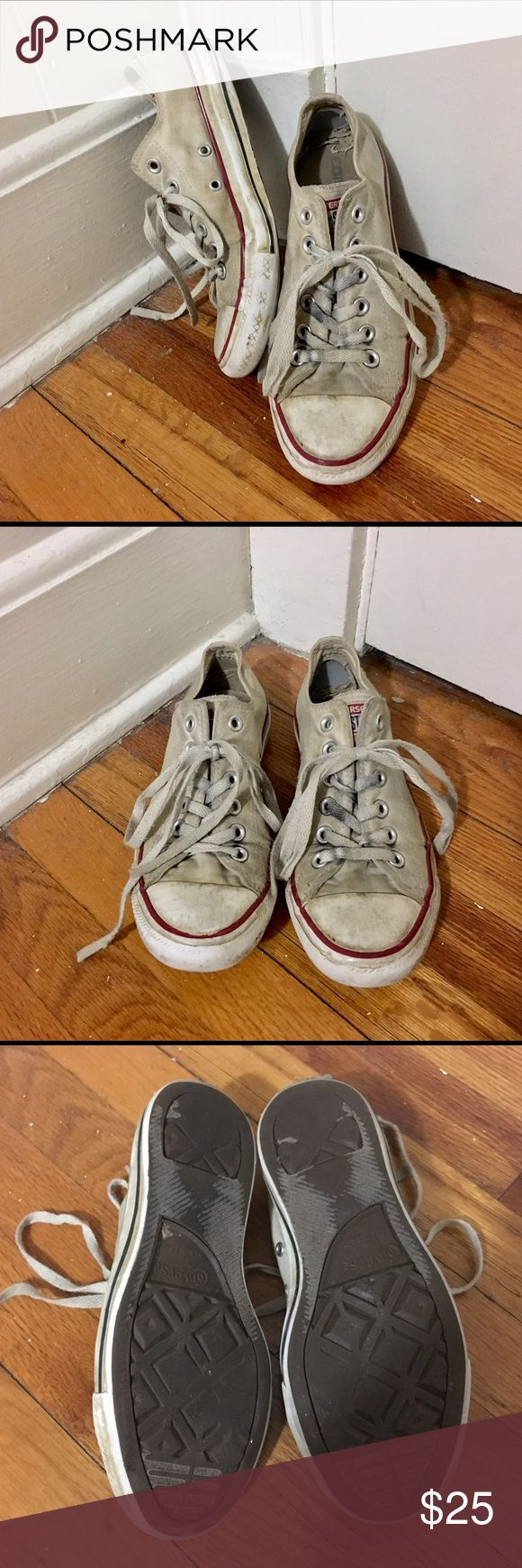 Off white Converse Signs of wear-new laces would help Very popular shoe Feel free to ask questions! Converse Shoes Sneakers