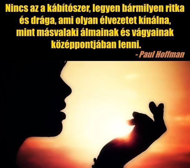 Paul Hoffman idézet a viszonzott szerelemről. A kép forrása: Becses brigantik