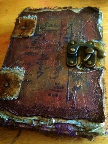 Vintage style book created at a workshop retreat. - a sprinkle of imagination: Fabulous inspirational weekend !!