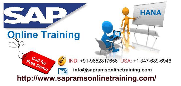 SAP HANA Online Training .Learn SAP HANA Online By world class certified consultants.  http://sapramsonlinetraining.com/sap-hana-online-training/