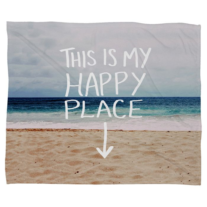 Leah Flores Happy Place x Beach Fleece Throw Blanket - Winter Getaway on Joss & Main
