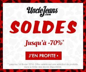 Uncle Jeans : soldes jusqu'à -70% sur une sélection de produits mode et denim + livraison et retours gratuits   Maxi Bons Plans