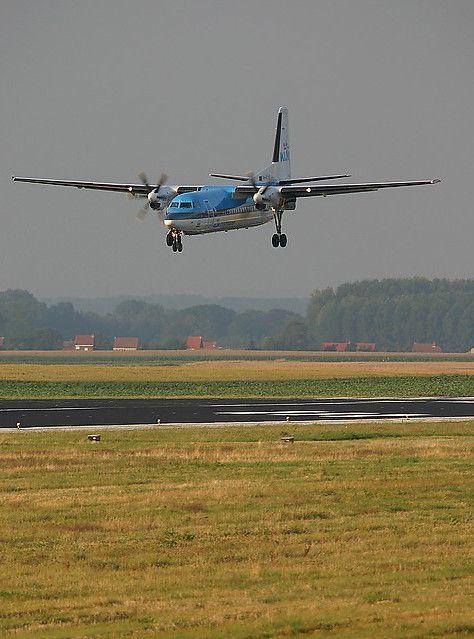 KLM Cityhopper Fokker F50 PH-KVK   #KLM #Fokker #F50