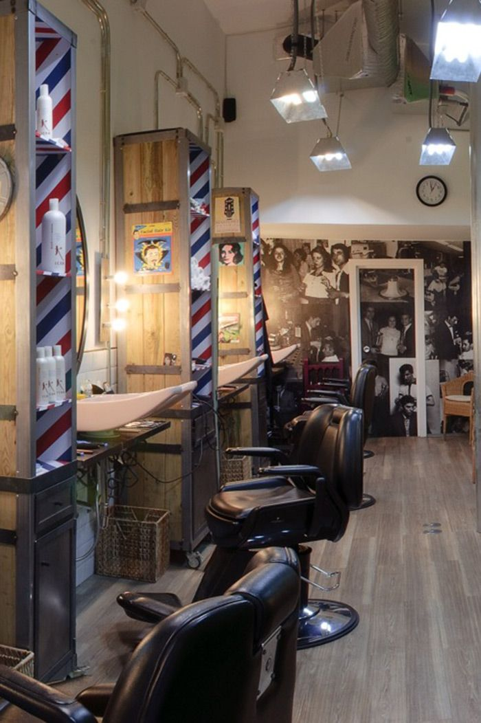 peluqueria lucas 36 madrid gearhead barbershopbarbershop decorbarbershop - Barbershop Design Ideas