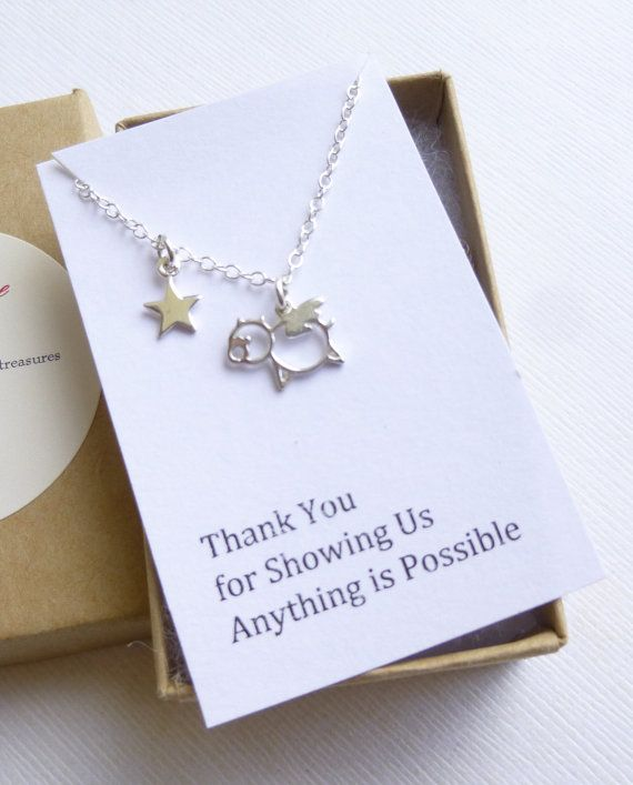 Aww! Love this one too! Sterling Silver Flying Pig Necklace... by tinycottagetreasures, $26.00