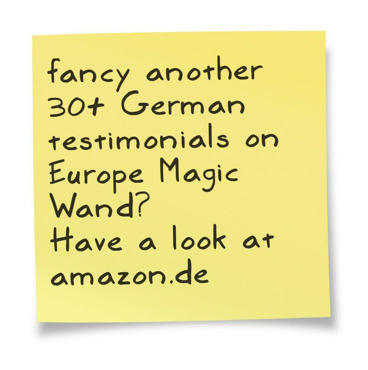 Fancy another 30+ German customer reviews for #EuropeMagicWand wand massager? #5outof5 and #4outof5 stars for @EuropeMagicWand. Get more info at www.europemagicwand.de
