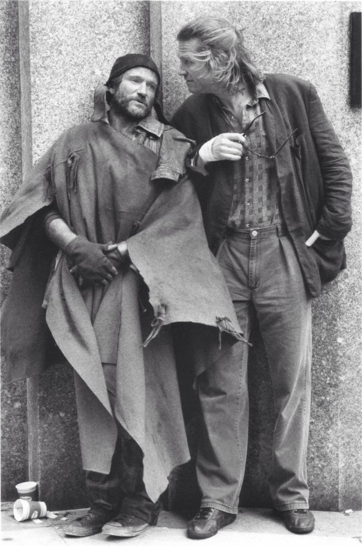 "Robin Williams and Jeff Bridges in ""The Fisher King"" (1991), dir. Terry Gilliam."