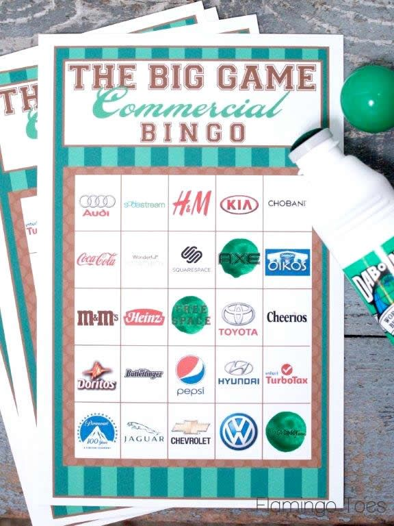 THE BEST BINGo YET! UP to date with this years companies! 2014 Super Bowl Commercial Bingo