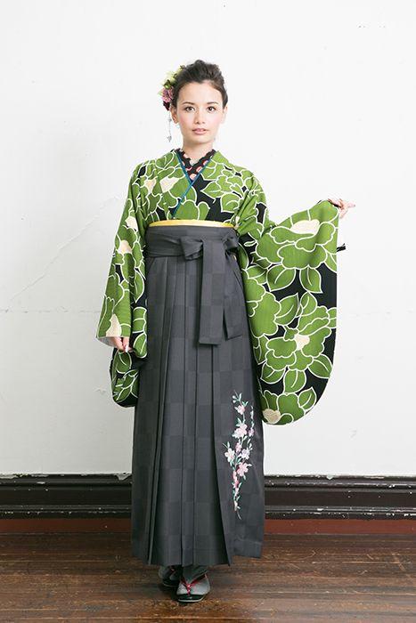 Kimono and hakama.