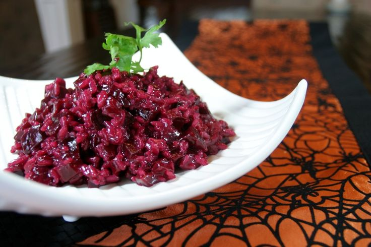 Beet Risotto www.fooddonelight.com #beetrecipe #risottorecipe #halloweenrecipe #healthyhalloween #healthysideLights, Recipe, Goats Chees, Red Wine, Risotto Www Fooddonelight Com, Healthy Beets, Beets Risotto, Cooking Foodists, Fooddonelight Artsandcrafts
