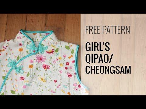 Free Qipao / Cheongsam / Ladies Chinese Dress Pattern XS – XL | Japanese Sewing, Pattern, Craft Books and Fabrics