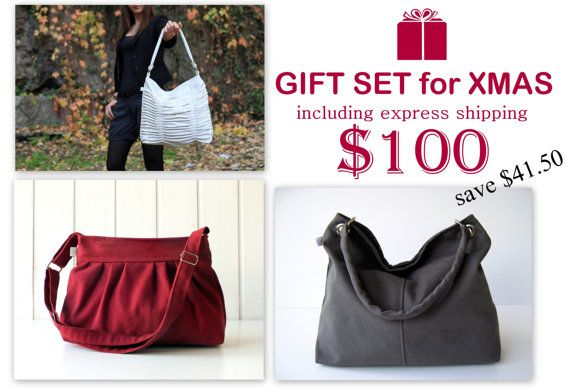 Christmas gifts package / bags / purses / messenger by bayanhippo,