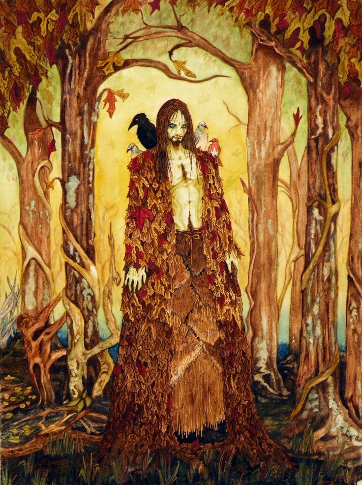 """Gods Goddesses Legends Myths:  The Erlking (German: Erlkönig, """"Alder King"""") is depicted in a number of German poems and ballads as a malevolent creature who haunts forests and carries off travelers to their deaths. The name may be an 18th-century mistranslation of the original Danish word elverkonge, """"elf-king."""" The character is most famous as the antagonist in Goethe's poem """"Der Erlkönig."""" In its original form in Scandinavian folklore, the character was a female #spirit."""