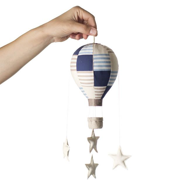 In my lab have just landed the mini hot air balloons, starry mobiles to lull little babies into sweet dreams (for adults too... shhhh)! By Jo handmade design