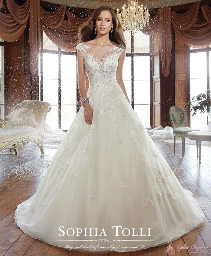 Sophia Tolli Prenses Gelinlik Modeli