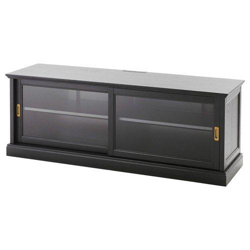 MALSJÖ tv sehpası siyah 160x48 cm   IKEA TV-Dolap Sistemleri
