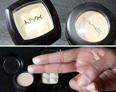 MAC Nylon Eyeshadow Highlighter Drugstore Dupe   Makeup Tutorials http://makeuptutorials.com/mac-drugstore-makeup-dupes