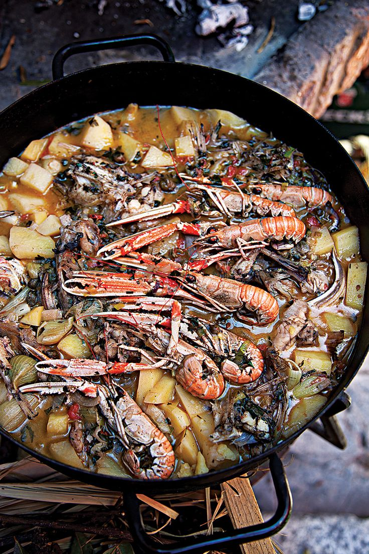 In this Croatian seafood stew, the ingredients are layered but not stirred to keep the delicate fillets intact.