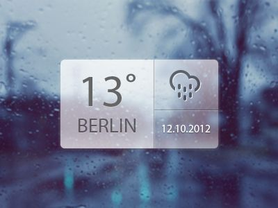 Weather Widget by Sanja Veljanoska