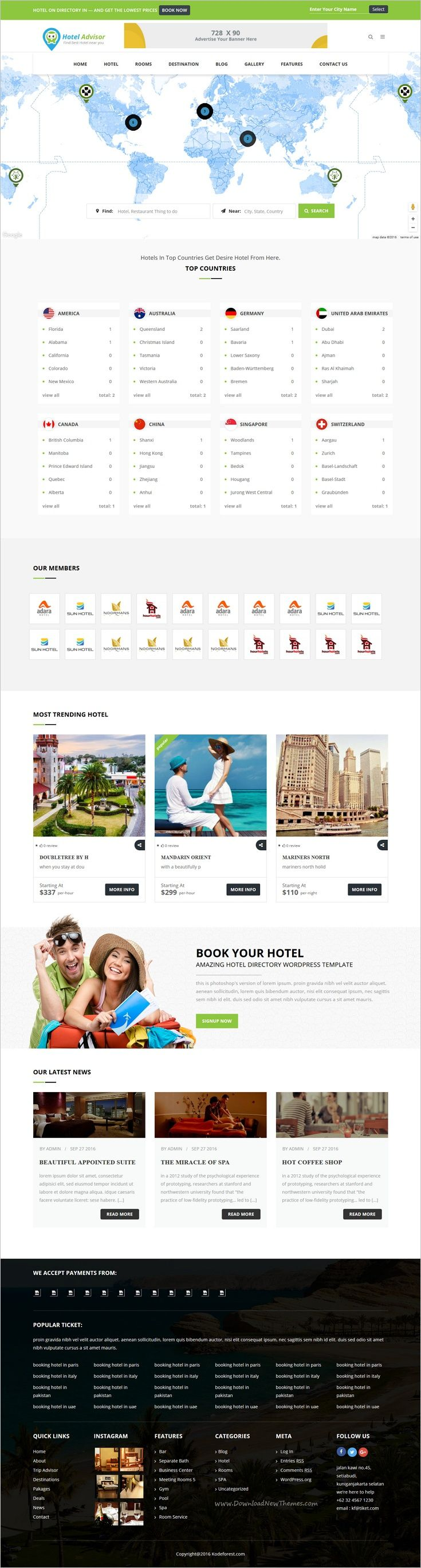 Hotel Advisor is a clean and modern design 6 in 1 #WordPress theme #webdev to manage #hotels, resorts, #rooms reservation with in depth review and booking management system website download now➩  https://themeforest.net/item/hotel-advisor-hotel-management-and-booking-wordpress-theme/18435488?ref=Datasata