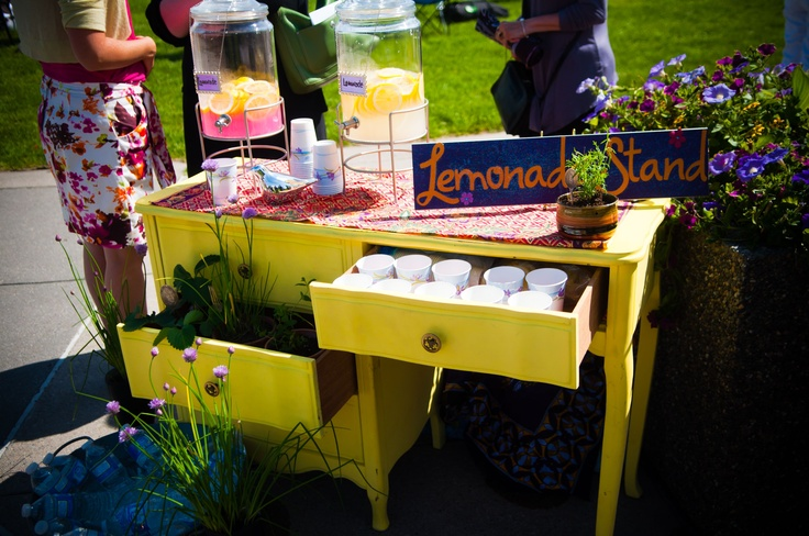 Lemonade stand from our outdoor wedding! So much fun.