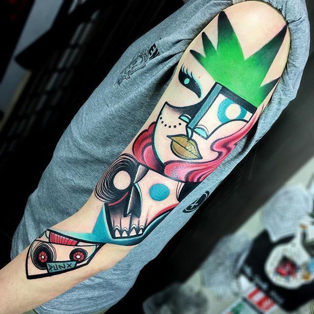 Les tatouages d'inspiration cubiste de Mike Boyd