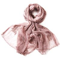 Ladies Scarves Exquisite Embroidery High-grade Silk Scarf Fashion Bandana Printing Female Pure Color Long Beach Shawl W6030