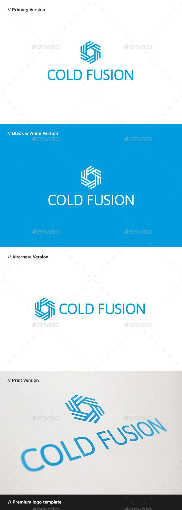 Cold Fusion Symbol - Logo Design Template Vector #logotype Download it here: http://graphicriver.net/item/cold-fusion-symbol-logo/10484539?s_rank=1536?ref=nexion