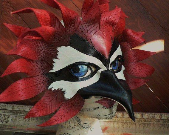 Woodpecker leather bird mask by Faerywhere by faerywhere on Etsy, $90.00