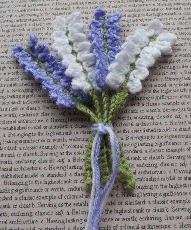 Crochet Lavender Bunch Embellishments                                                                                                                                                                                 Mais