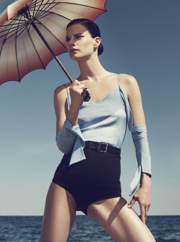 Harper's Bazaar Netherland July 2015 | Querelle Jansen by Mickael Schulz [Editorial]