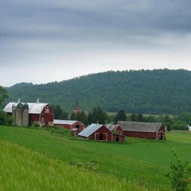 Wisconsin Farm- love the rolling hills of my home state.