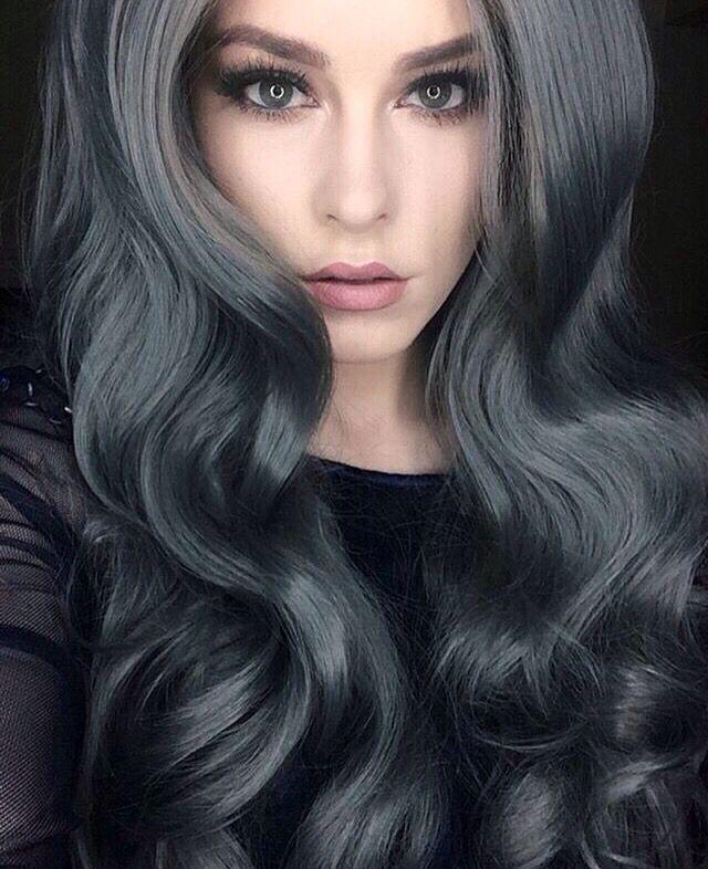 Best 25 fantasy hair color ideas on pinterest grey dyed - Couleur gris charcoal ...