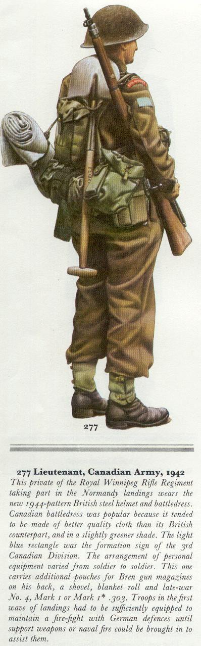 Royal Canadian Army - Liutenant, Royal Winnipeg Rifle Regiment, Normandy 1944