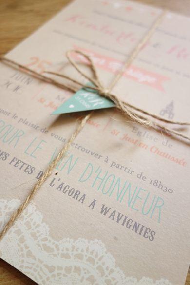 Sehr Les 25 meilleures idées de la catégorie Invitations de mariage en  EP13