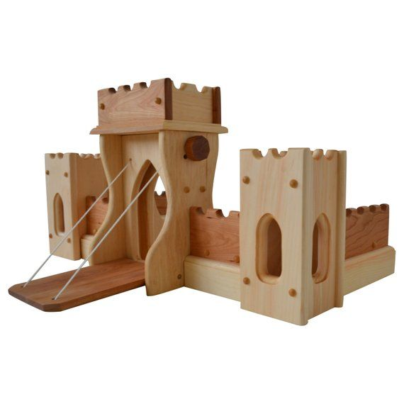 Wooden Play Castle Waldorf Toy Castle Montessori Castle Childs Play