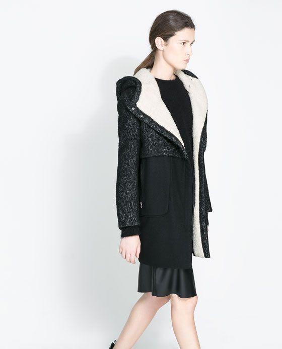 COMBINATION COAT from Zara - $189.