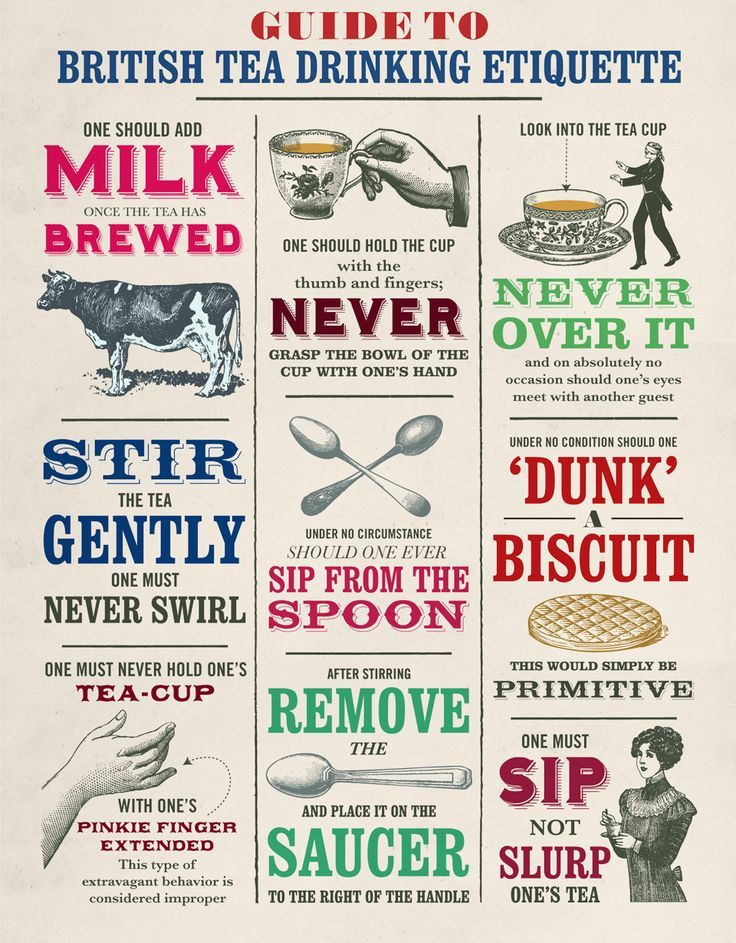 Guide to British Tea Drinking Etiquette How many people will be disappointed in learning you're not supposed to life your pinky finger~Lady Bren
